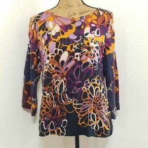 Elie Tahari Tops - Elie Tahari • silk blend floral top •